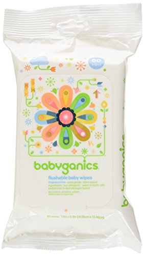 Babyganics Flushable Wipes, Fragrance Free