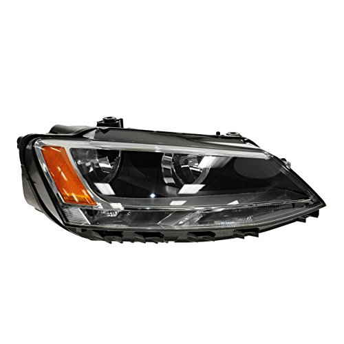 Headlight Headlamp Halogen Assembly Passenger Side Right RH for 11-15 VW Jetta