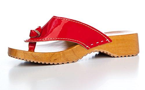 SWE Clogs - Zuecos de Material Sintético para mujer Rosso (rosso)