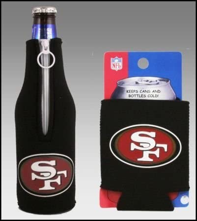 SET OF 2 SAN FRANCISCO 49ERS CAN BOTTLE KOOZIE COOLER