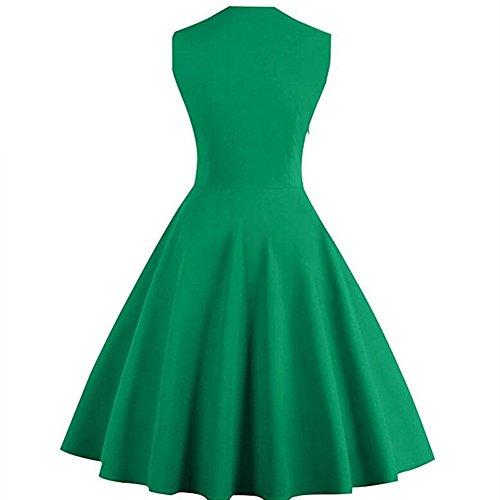 Vestido para Noche Qingxian Verde Mujer wqf80OOzx