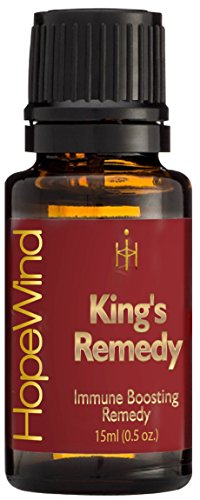 (King's Remedy, Immune Boosting, Germ Virus Fighter, Optimum Health 100% Pure Therapeutic grade Unique Formula, Full 15ml/0.5oz - by HopeWind)