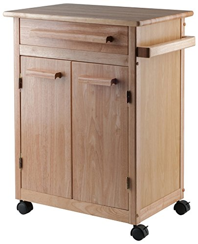 Homestyles 2 Drawer Cabinet - Winsome Wood Single Drawer Kitchen Cabinet Storage Cart, Natural