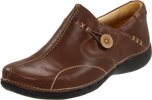 CLARKS Women's Un.Loop, Taupe Distressed Leather, 6.5 D-Wide