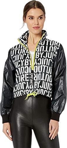 Juicy Couture Women's Juicy Stencil Logo Mock Neck Pullover Juicy Stencil Print Large ()