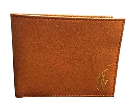 Polo-Ralph-Lauren-Mens-Passcase-Wallet-Tan