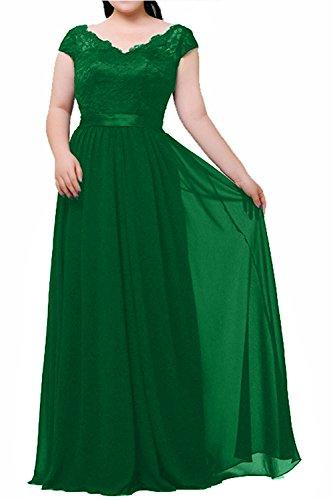 Elegant Abendkleider Partykleider Jaeger mia Gruen Spitze Formalkleider Brau Festlichkleider Langes Ballkleider La Neu Brautmutterkleider fntXATxf