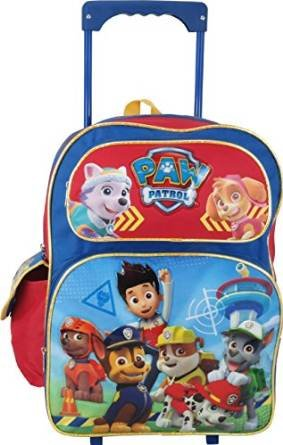 Large Rolling Backpack–Paw Patrol–Tous les chiens Sac d'école NEUF 659899 Accessory Innovations
