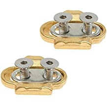 Bike Cleats for Crank Brothers Pedal Premium Mountain Bike Cleats/Clipless cleats/MTB Bicycle Cycling Cleats Clips for Crankbrothers Eggbeater Candy Smarty Acid Pedal Cleats-Brass (2PCS)