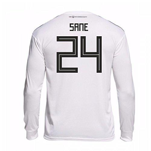 劇作家泣く週末2018-19 Germany Home Long Sleeve Shirt (Sane 24)