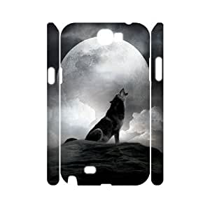 Wolf Custom 3D Cover Case for Samsung Galaxy Note 2 N7100,diy phone case ygtg601235