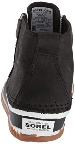 Salt About Leather Sea Out Women's Boots Sorel N Ankle Black OxUzzqF