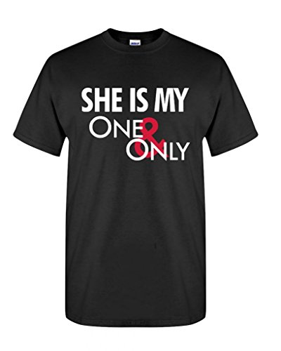 Artix She Is My One And Only Men's T-Shirt Matching Couples Shirts Medium Black