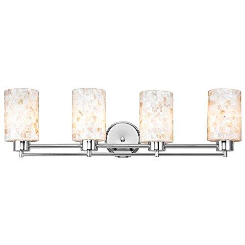 Bathroom Light with Mosaic Glass - Four Lights