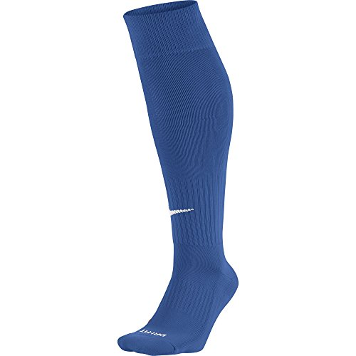 Nike Academy Over-The-Calf Soccer Socks, Unisex Athletic Socks with Sweat-Wicking Dri-FIT Technology, Varsity Royal/White, M