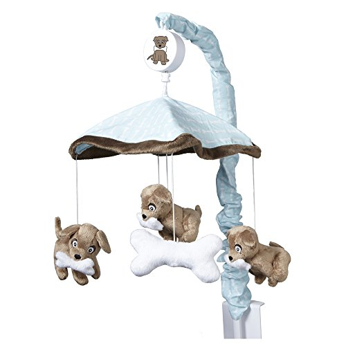 One Grace Place Puppy Pal Boy Mobile, Powder Blue, Chocolate Brown and White (Dog Mobile compare prices)