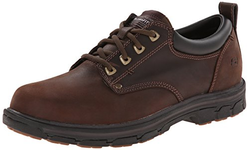 Skechers Men's Segment Rilar Oxford, Brown, 11.5 H(M) US