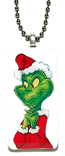 Jazzworks,LLC Christmas Grinch Domino Necklace (DO-005)