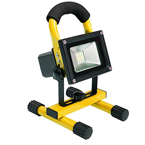 Giantex Portable 10w Cordless Work Light Rechargeable LED Flood Spot Camping Lamp (Yellow)
