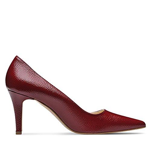 Evita Shoes Jessica Damen Pumps Lack mit Prägung Dunkelrot