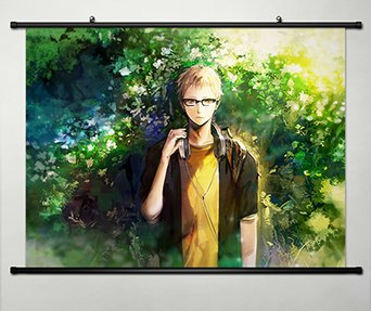 Wall Scroll Poster Fabric Painting For Anime Haikyuu! Kei Tsukishima 48