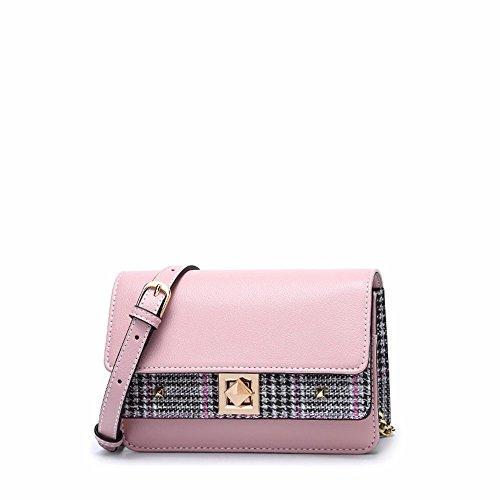 New Square Pink cadena Pink spanning skew 2018 Classic bolsa bolsa Jog Trend US1Fxdwq6