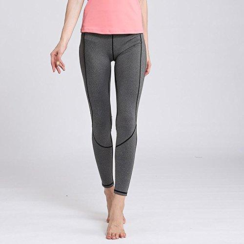 Erica Leggings de sport femmes courir des collants de couleur pure taille haute Stretch Fitness Yoga Pants