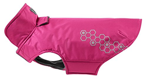 RC Pet Products Venture Outerwear Fleece Lined, Reflective, Water Resistant Dog Coat, Size 14, Boysenberry