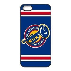 Custom ST Louis Blues Back Cover Case for iphone 5,5S JN5S-1183 wangjiang maoyi