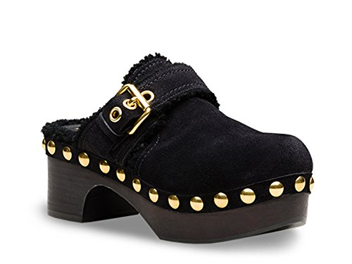 Black Women's Wedges Suede KDZ31LJFTF0002 Shoe Car xzpBgg