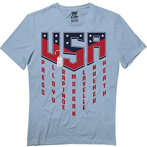 USA Women Soccer Champions 2019 Female Players Names T Shirt Light Blue (Best Female Soccer Player Ever)