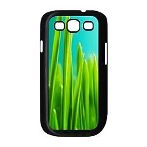 Samsung Galaxy S3 Case,Grass Thread Close Up Hard Shell Back Case for Black Samsung Galaxy S3 Okaycosama425977