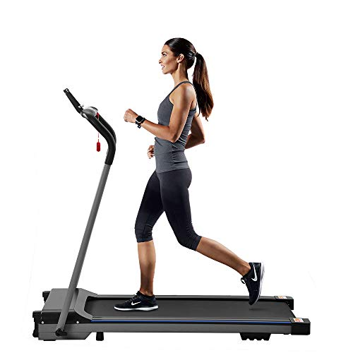EiioX Folding Treadmill with 1.5HP, LCD Display, Mobile Holder, Electric Running Machine Easy to Save for Home
