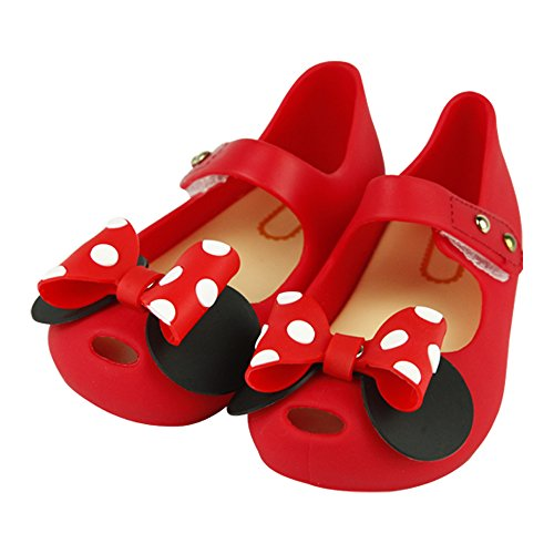 Princess Leia Shoes (iFANS Girls Sweet Dot Bow Princess Mary Jane Flats for Toddler/Little Kid)