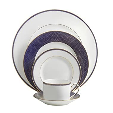 Waterford Lismore Diamond Lapis Five Piece Place Setting
