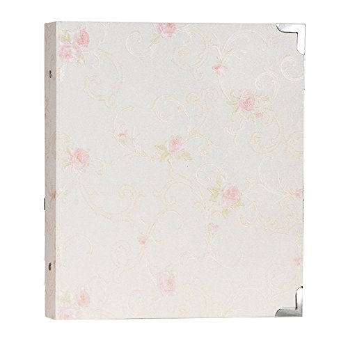 Pastoral wind 4 inch album / family couple baby growth album / 6 inch album interstitial / 4 inch 6 inch one mixed book ( Color : Elegant white-B (Romantic Boxed Leather)