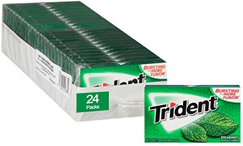 Trident Spearmint Sugar Free Gum - 24 Packs (336 Pieces Total) ()