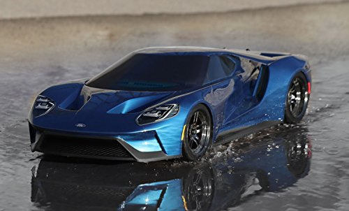 Amazon Com Traxxas Wd Ford Gt Vehicle With Tq  Ghz Radio System Liquid Blue Toys Games