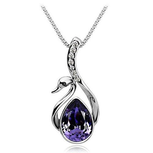 53 opinioni per Museya Ragazze argento vendita calda le donne belle placcato cigno di cristallo