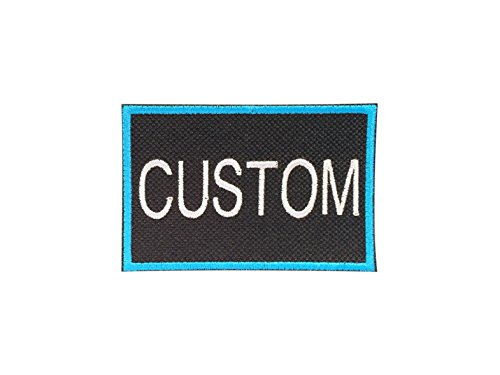 Custom Embroidered Patch for Yeti Cooler (Black/Cyan with Silver Text)