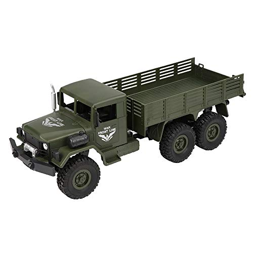 2018 Q63 RC 1:16 2.4G Remote Control 6WD Tracked Off-Road Military Truck Car RTR Preschool Educational Toy Best Toy Gift for Kids (Green, Free Size) -
