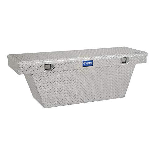 Price comparison product image UWS EC10721 63-Inch Heavy-Wall Aluminum Deep Angled Truck Tool Box,  RigidCore Lid