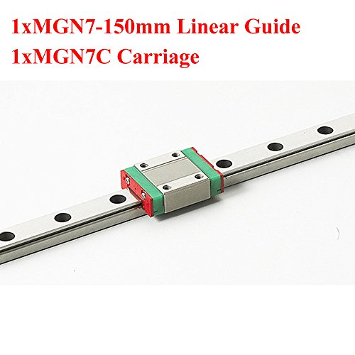 MR7 7mm Mini MGN7 Linear Guide 150mm Rail With MGN7C Linear Block Carriage For Cnc