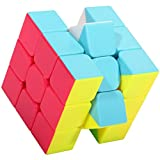 Speed Cube, Suvevic Qiyi Cube 3x3x3 Stickless Speed Cube Smooth Magic Cube Puzzle