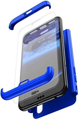 Qjuegad Kompatibel mit Samsung Galaxy S6 Edge Hülle 360 Grad Full Body Case Anti-Shock Schutzhülle + Schutzfolie Aus Gehärtetem Glas 3 in 1 PC Starre Hülle Ultra Slim Transparente Schutzhülle #5