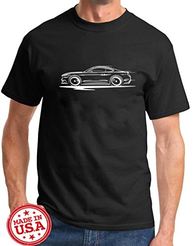 Series Ford Mustang (2015-17 Ford Mustang GT 5.0 Coupe Redline Series Outline Design Tshirt 2XL black)