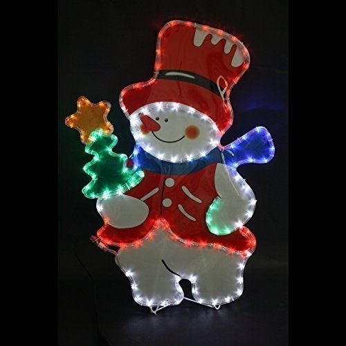 Garden mile large snowman multi function rope light silhouette pre garden mile large snowman multi function rope light silhouette pre lit with multicoloured led aloadofball Images