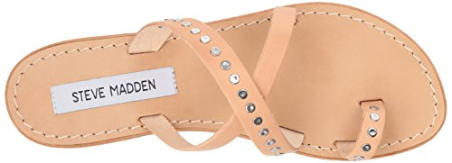 Steve Sandal Madden Toe Women Tan Leather Becky Ring 7Pr7Tq