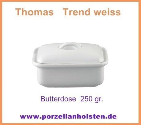 Butterdose mit Deckel f/ür 250 Gramm Butter Porzellan Thomas Trend Wei/ß