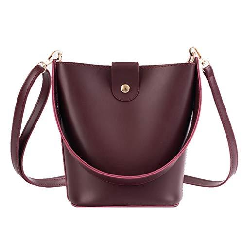 Purse Bucket Bag for Women, Simple Style Top Handle Handbags Tote Shoulder Bag ()